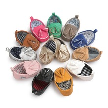 PU leather Baby mocassin ommino girls boys First Walkers hot moccs shoes Soft Bottom Non-slip Fashion Tassels Newborn Shoes