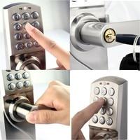 OSPON Digital Keypad Door Lock with Backup Round Key Locker Electronic Entry by Password Code Combination Password + Key OS7717
