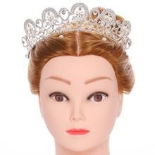 все цены на Fashion Wedding Hair Accessories Silver Silver Bridal Crown Baroque Rhinestone Imitation Pearl Bridal Crown Princess Headwear онлайн