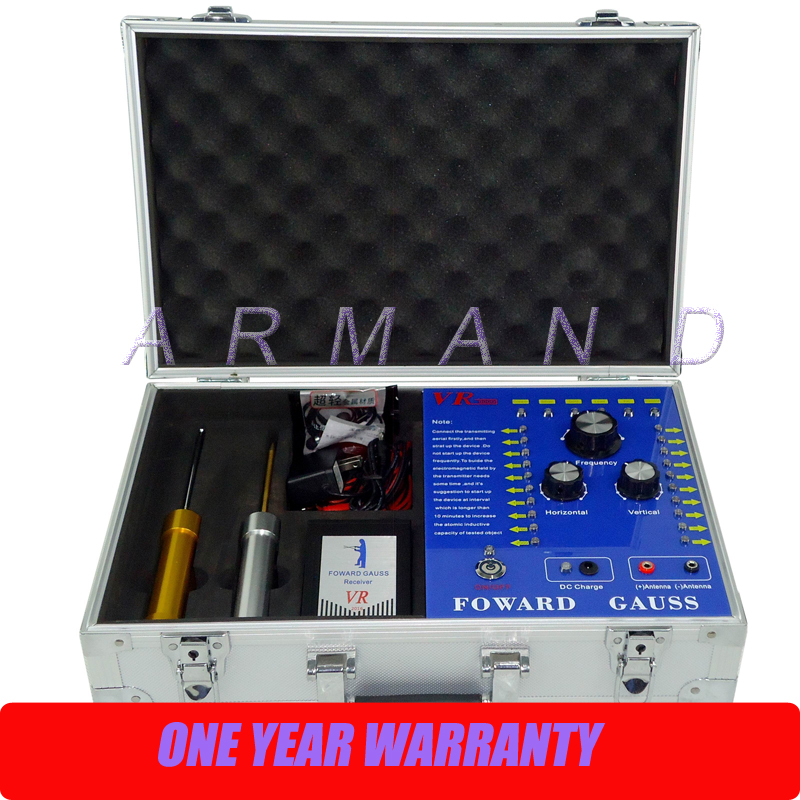Profondeur 100 M gamme 2000 M professionnel or argent cuivre plomb étain Gem diamant VR9000 détecteur de métaux souterrain