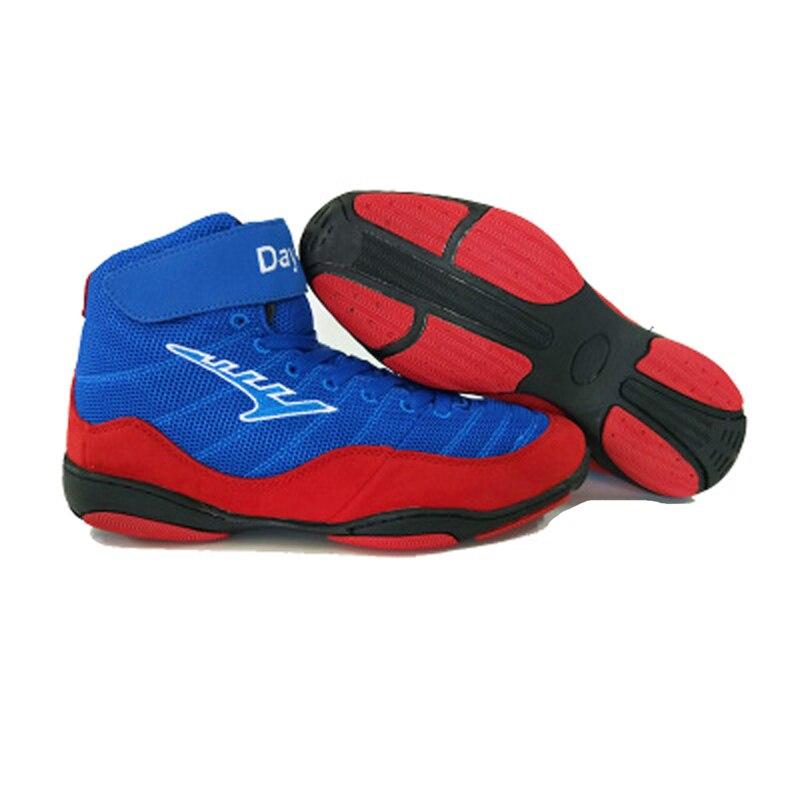 Hommes femmes enfants lumière respirant chaussures de lutte chaussures de boxe combats d'arts martiaux chaussures de formation complet 36-46 sport