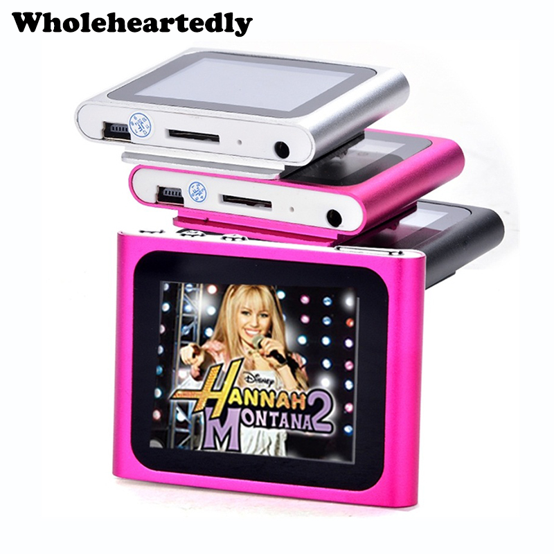 In Stock 6th Gen 1.8 inch LCD Screen MP3 MP4 Player FM Radio Games Video Movie Player+Earphone+ USB Cable Free Shipping image