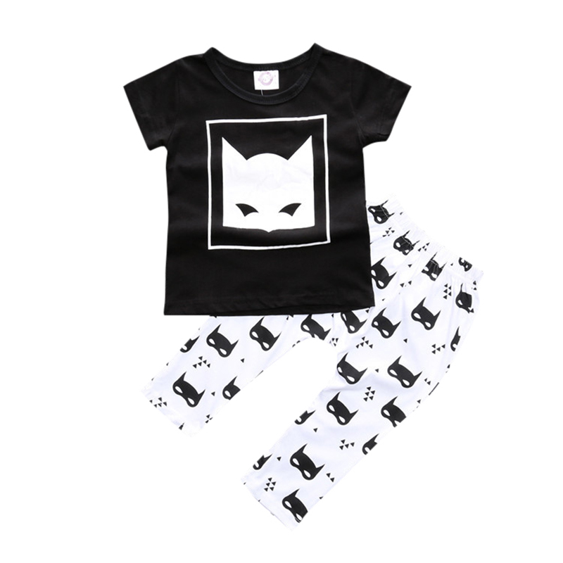 Lovely Baby Set Character Cotton Baby Boy Clothes Kids Clothing Set (Pants+T-shirt) Boy Summer Clothes Sets baby boy clothes monkey cotton t shirt plaid outwear casual pants newborn boy clothes baby clothing set