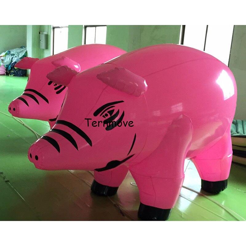 Gonflable cochon forme modèle PVC publicité Promotion D'hélium Balloone cochon gonflable personnage de dessin animé pour la décoration