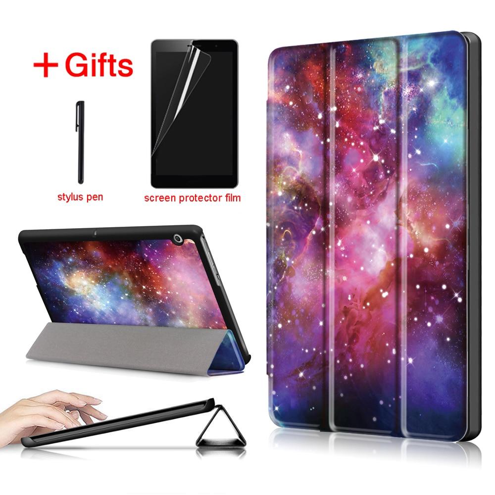 Ultra Mince En Cuir PU Cas Pour huawei mediapad T3 10 AGS-L09 AGS-W09 9.6 Tablet PC couverture de stand pour huawei mediapad t3 10 cas