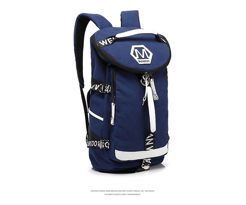 Men's Multi-Functional Backpack Vintage Shoulder Bag High Quality Canvas Male Bagpack Rucksack Travel Luggage for Weekend 11