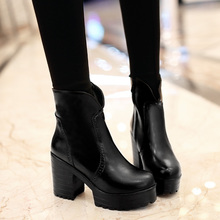 แฟชั่นใหม่เซ็กซี่รองเท้าส้นสูงอัศวินรองเท้ากันน้ำฤดูใบไม้ร่วงและฤดูหนาวมาร์ตินรองเท้าสั้นขนาด: 34-43ผู้หญิงรองเท้า