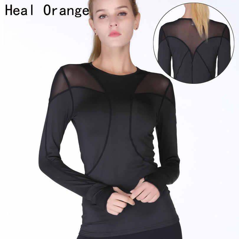 af73dfea9157b HEAL ORANGE Yoga Top Yoga Shirts For Women Long Sleeve Sports T Shirt  Fitness Women Fitness
