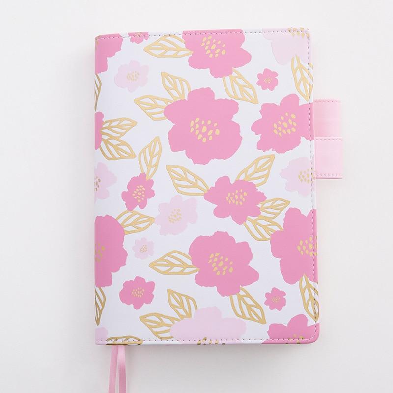 все цены на Lovedoki notebooks and journals Notebook Korean Stationery Foil Flower Personl Daily Weekly Planner organizer bullet journal онлайн
