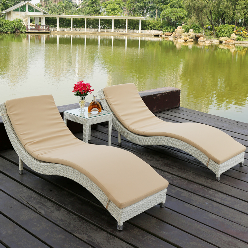 Loungers siesta sleep lying bed S type balcony chaise lounge chairs wicker chair outdoor swimming pool-in Sun Loungers from Furniture on Aliexpress.com ... & Loungers siesta sleep lying bed S type balcony chaise lounge chairs ...