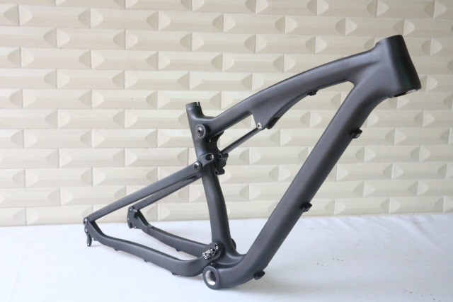 Free Shipping New 27.5 Full Suspension Mountain Bikes Frame 165x38mm 650B Carbon Fiber MTB Bike Frame 16″/18″/20″