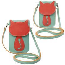 leather women bag messenger bags fashion small Lovely Cartoon female shoulder cross body wallet cat  Pocket purse bolsa feminina