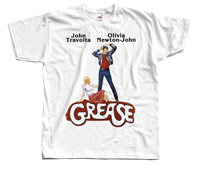 Grease Poster 1978 Dtg T Shirt White All Sizes S 4Xl