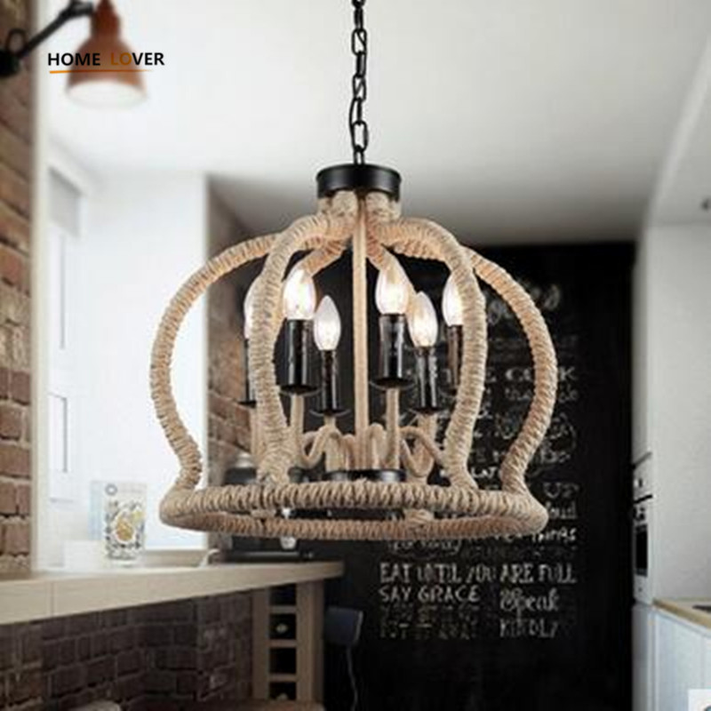 Northern Europe Loft Vintage Pendant Lights Lamp Iron Rope E14 bulb light Americal Industrial Vintage Loft Pendant Lamp Fixtures northern europe loft vintage pendant lights lamp iron black e27 americal industrial vintage loft pendant lamp fixtures