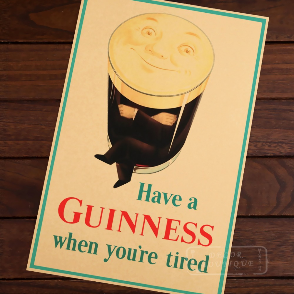 My Goodness My Guinness Room Frame Vintage Kraft Decorative Poster ...