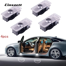 4pcs LED Car Door Welcome Logo Light For Mercedes Benz CLA CLS E couple Cabriolet Projector Laser
