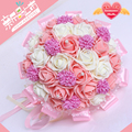 Six Colors Bridal Wedding Bouquet 30 Handmade PE Roses buque de noiva wedding flowers bridal bouquets pristian zouboutin