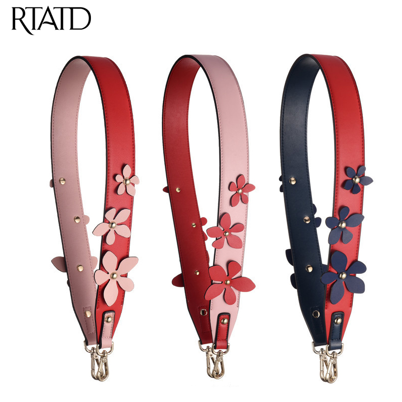 New Women Bag Strap Fashion Flower Design Ladies Shoulder Strap Easy Matching Handle For Lady Bags Belts 98cm Bag Strap