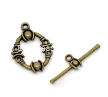 DoreenBeads 25 Sets Bronze Tone Toggle Clasps 21x17mm 25x8mm (B14353), yiwu