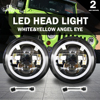 Co Light 2PCS LED Headlight High Low Beam Headlamp Driving Light For Harley Davidson Motorcycle Projector