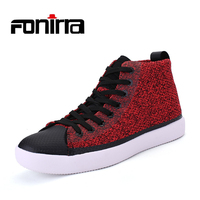 FONIRRA Men Designer Unisex Bling Glitter Spike Studs Shoes High Top Casual Men Shoes Thick Bottom