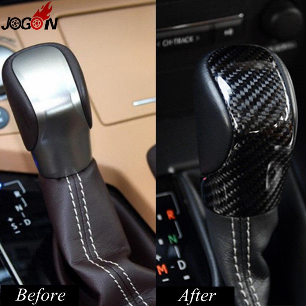 Carbon Fiber Gear Shift Knob Trim Cover For Lexus RX IS ES NX RC RX200t RX350 RX400h IS250 IS300 ES250 ES300h ES350 NX300h NX200 gear shift