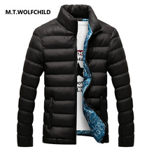 High quality 2017 brand men's clothing coats casual stand collar men's warm winter clothes Fashion male cotton jacket Plus size