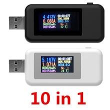 10 in 1 USB tester DC Digital voltmeter amperimetro current voltage meter amp vo