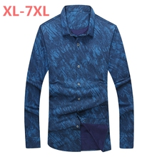 new plus size Retro Floral Printed Man Casual Shirts Fashion Classic Men Dress Shirt Breathable Men's Long Sleeve Brand Clothing