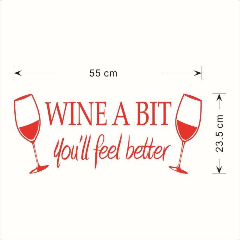 Stiker dinding pvc gelas anggur merah anggur sedikit inggris removable wall sticker dinning kitchen ruang dinding dekorasi rumah seni di wall stickers dari