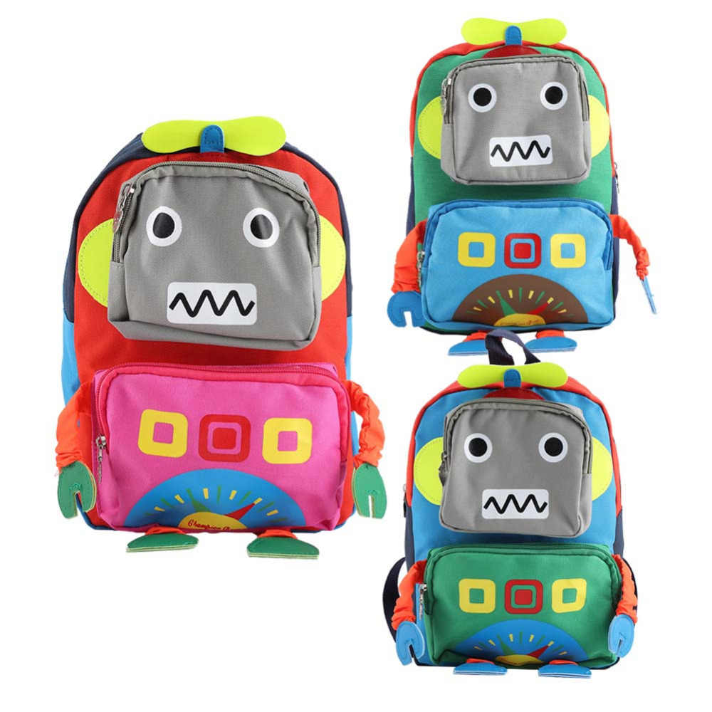 Kid Anti-lost Backpacks Baby Child Cute Toddler School Travel Bag Cartoon  3D Robot Shape 64395ece95a4b