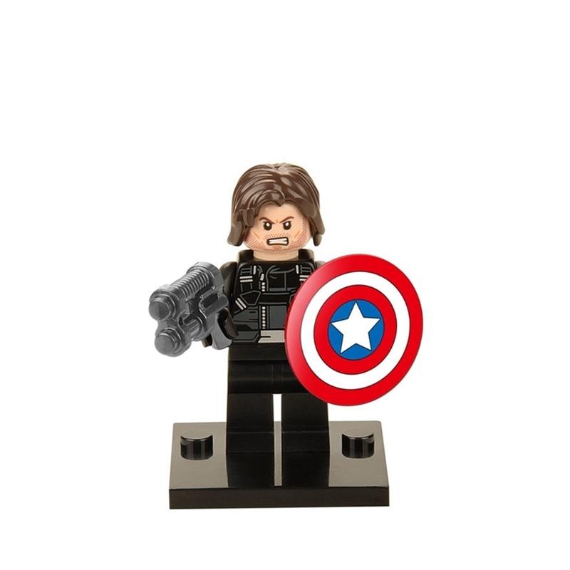 US $0 44 |Super heroes legoing marvel Captain America X265 legoings  Building Blocks Toys for children Spiderman Iron Man for Children gift-in  Blocks