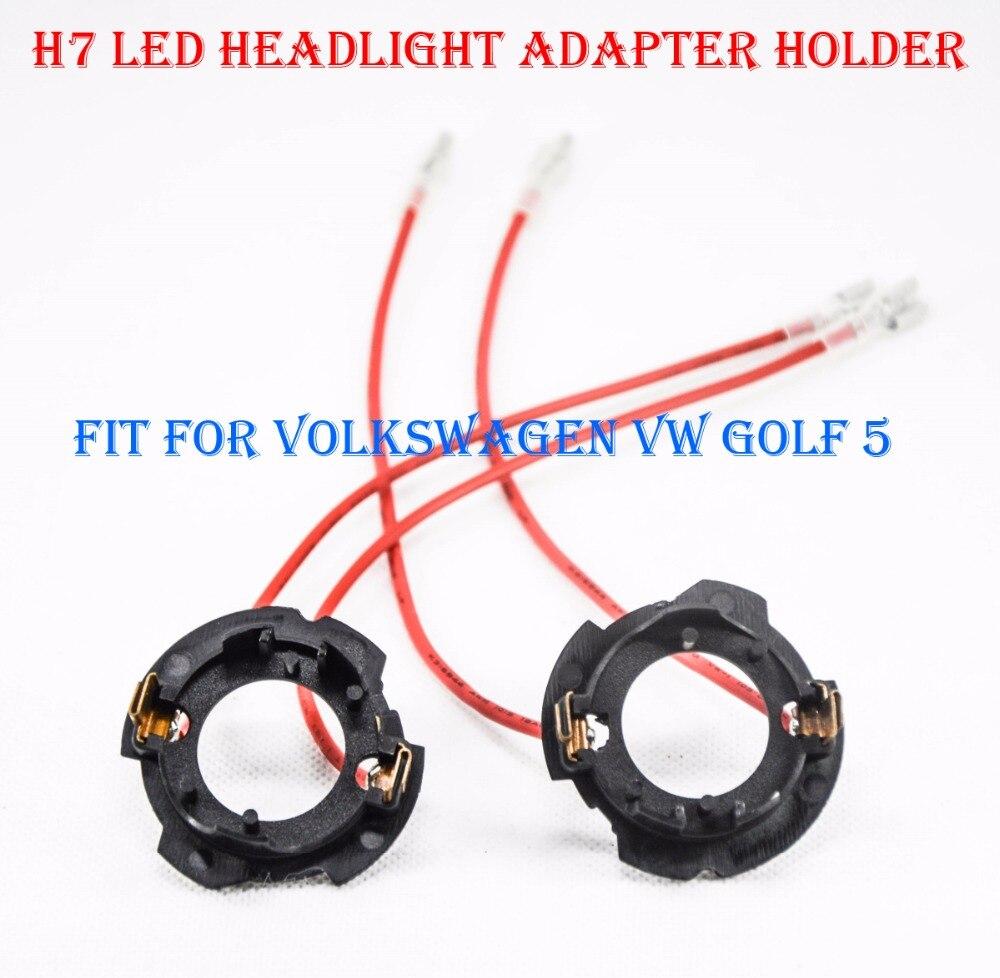 2Pcs H7 Socket LED Headlight Lamp Bulb Stainless Steel Adapter Retainer PB