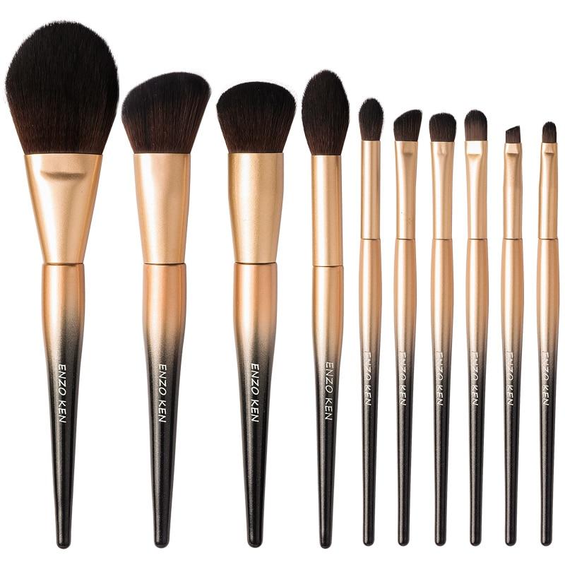 Makeup Brushes Set Merry Christmas Gift for Women ENZO KEN 10Pcs Synthetic Blush Brush Powder Makeup Brushes Set Professional