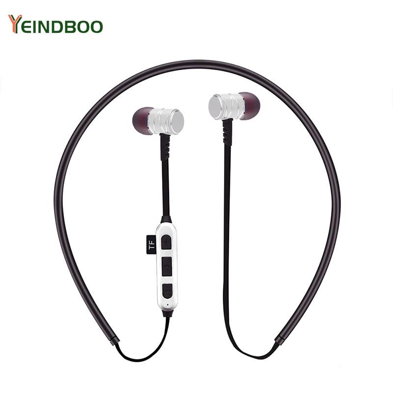 YEINDBOO Wireless Headphones IPX5 Waterproof Sports Bluetooth Earphones Lightweight Neckband Headset With MIC Noise-Cancellation
