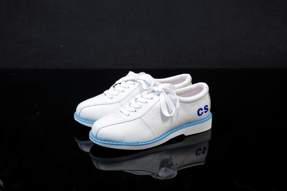White Bowling Leatther Shoes Sneaker Unisex Shoes For Women Beginners Sports Shoes Catechumen Leather Flat Women Shoes bsi women s 651 bowling shoes