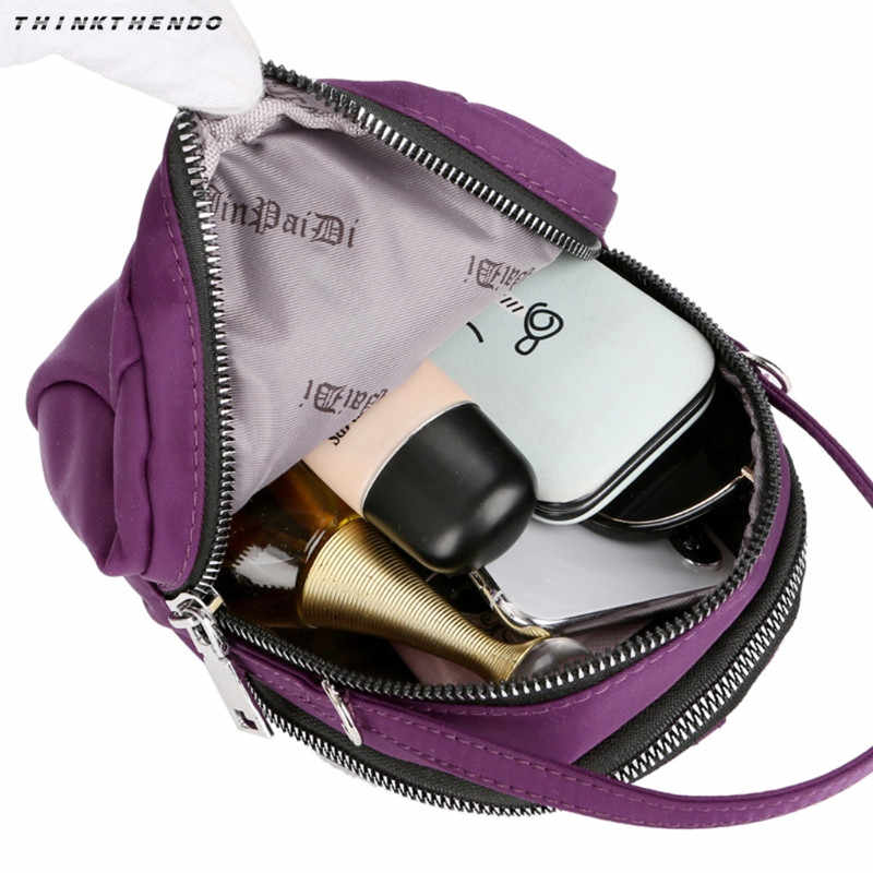 ... THINKTHENDO Fashion New Women 3-Layer Zip Crossbody Bag Phone Purse  Rucksack Girls Female Mini