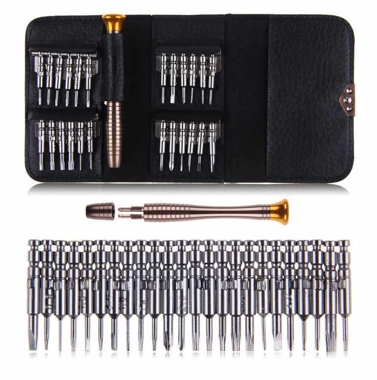 25 in 1 Precision Torx Screwdriver Cell Phone Wallet Repair Tool Kit for Mobile Phone Cellphone Electronics PC