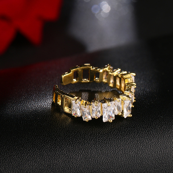 EMMAYA New Fashion Female Wedding Bands Jewelry Gold Color Engagement Rings for Women CZ Stone Paved Promise Rings 4