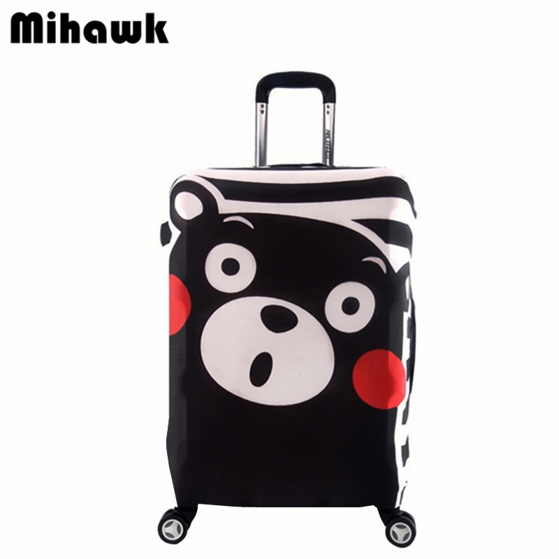 Mihawk Cute Bear Elastic Luggage Protective Cover For 18 32 Inch Trolley Suitcase Cartoon Dust Bag