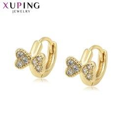Xuping moda Temperament jasne złoto kolorowy platerowany styl europejski kolczyki biżuteria dla kobiet święto dziękczynienia prezenty 98344