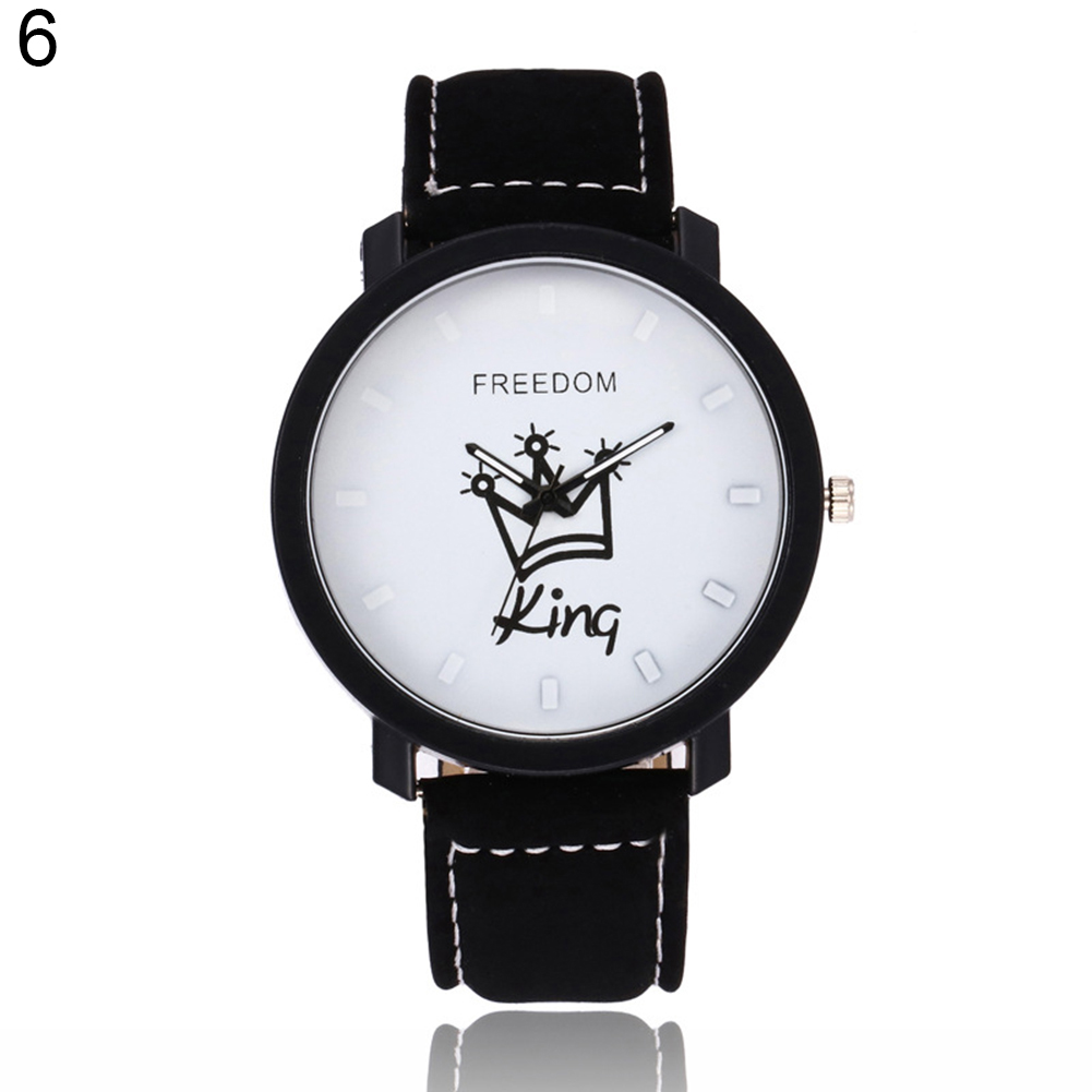Новинка, пара, Королевская корона, Fuax, кожа, Кварцевые аналоговые наручные часы, хронограф, Wom reloj mujer - Цвет: 6