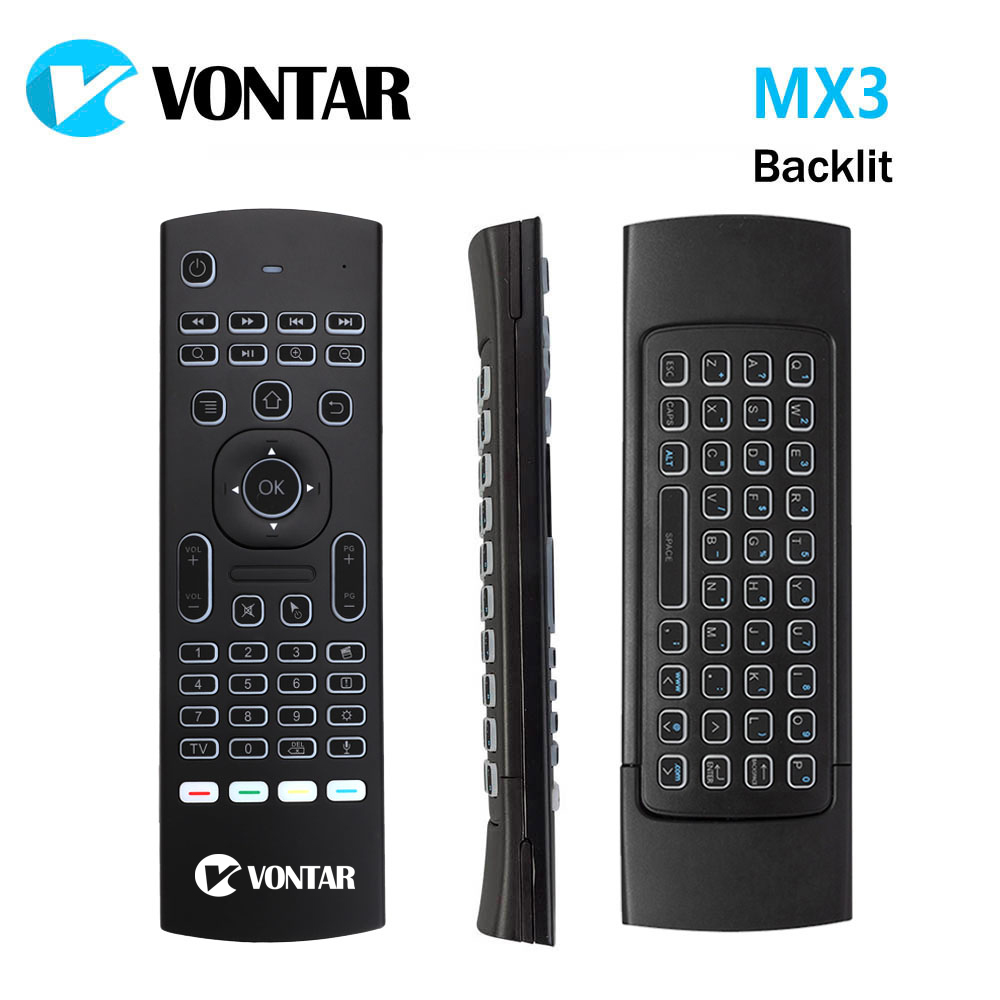 [Genuine] VONTAR 2.4GHz Wireless Backlit Mini Keyboard MX3 Pro Air mouse IR Learning Mode Remote Control For PC Android TV Box