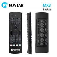 MX3 Air souris 2.4GHz sans fil Mini clavier télécommande vocale IR apprentissage télécommande pour PC Android TV Box x96 mini x96