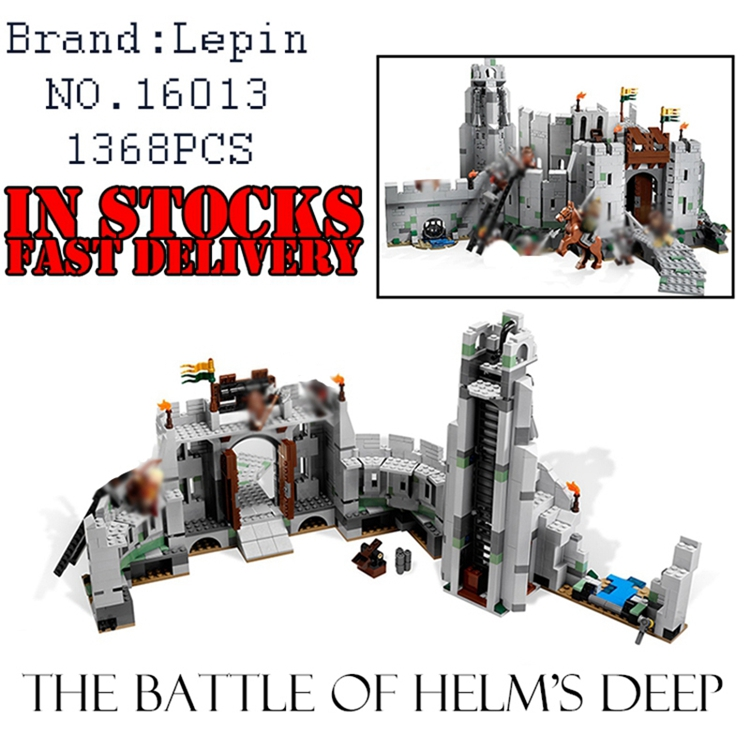Lepin 16013 New 1368Pcs The Lord of the Rings Series The Battle Of Helm' Deep Model Building Blocks Bricks Educational Toys 9474 lepin 16018 genuine the lord of rings series the ghost pirate ship set building block brick funny toys 79008
