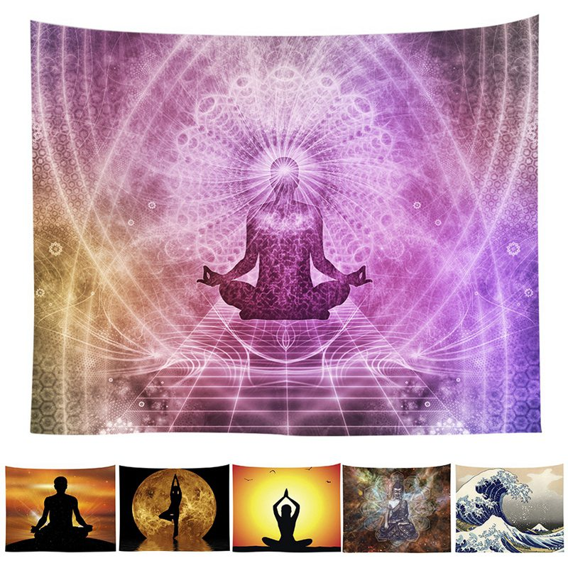 Polyester Fabric Printed Tapestry Zen Meditation Wall Hanging Tapestry Home Decor Bedroom Tapestry Beach Towel Yoga Mat  yoga mat zen | Zen Active Professional Yoga Mat Review (The Perfect Yoga Mat) Polyester Fabric Printed Tapestry font b Zen b font Meditation Wall Hanging Tapestry Home Decor Bedroom