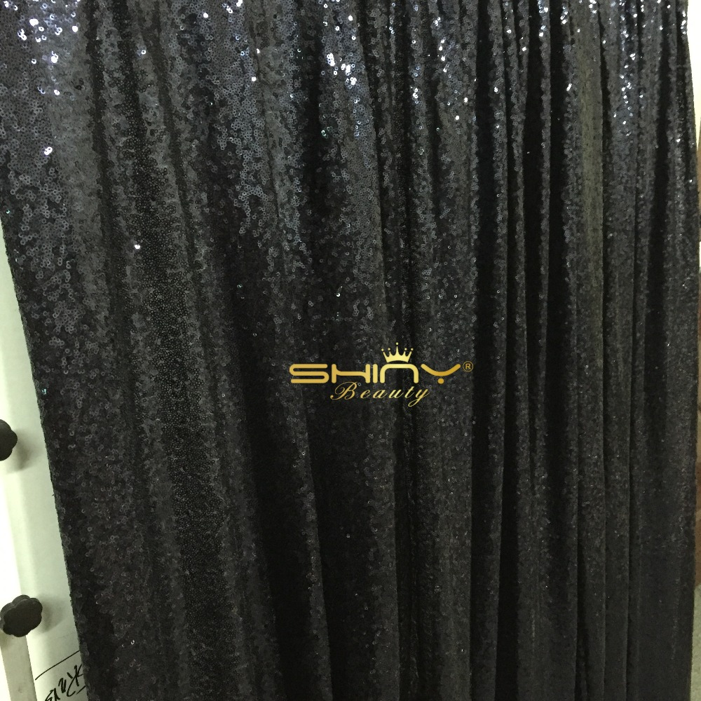Noble Shiny!! 10FT*10FT Black Sequin Fabric Backdrop For Christmas/Wedding/Party Photography Decoration-a