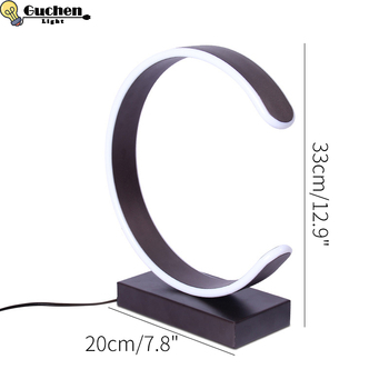 led table desk lamp study light stand office modern C letters Simplicity nordic decor Lighting Reading bedroom 110v 220v