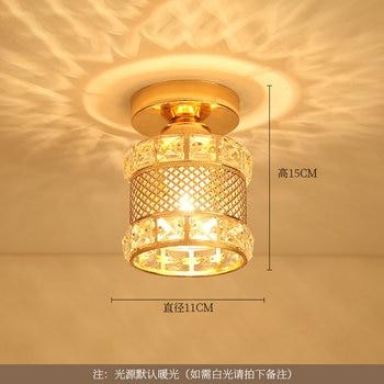 Artpad Modern LED Crystal Ceiling Light for Entrance Corridor Balcony Aisle Decor Surface Mount Square Round Gold Ceiling Lamp 15