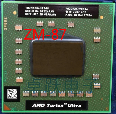 AMD Laptop processor cpu AMD Turion x2 Ultra ZM 87 ZM87 ZM 87 TMZM87DAM23GG 2.4GHz Socket S1 free shipping-in CPUs from Computer & Office on